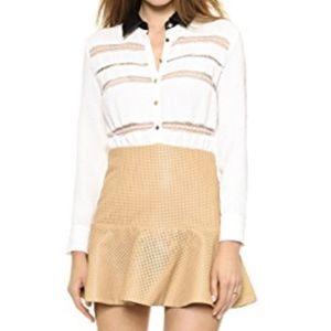 Self Portrait Dresses - Self Portrait Dress Lace Trimmed Shirtdress